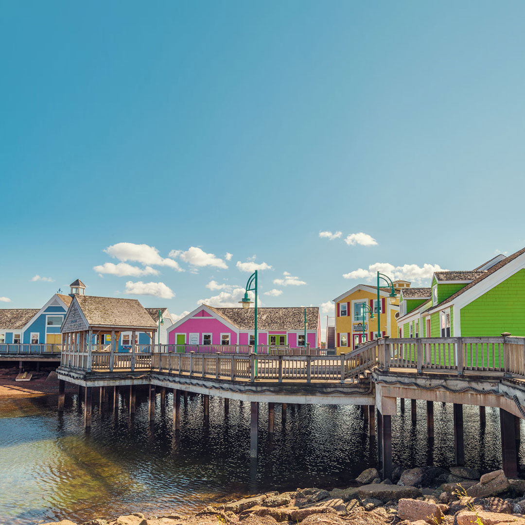 Colorful waterfront at Summerside, Prince Edward Island.