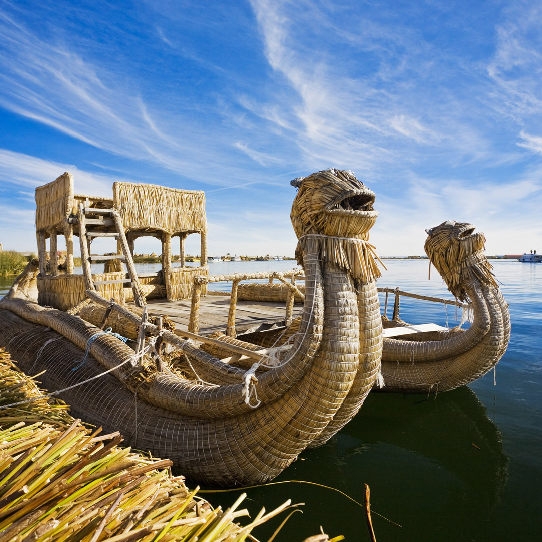 reed boats in lake titicaca
