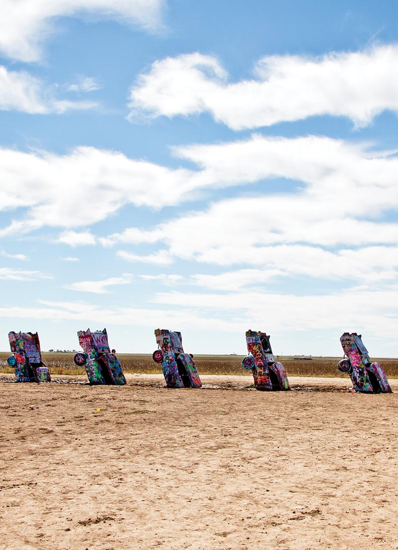 Cadillac Ranch in Amarillo, TX. Photo © Candacy Taylor.