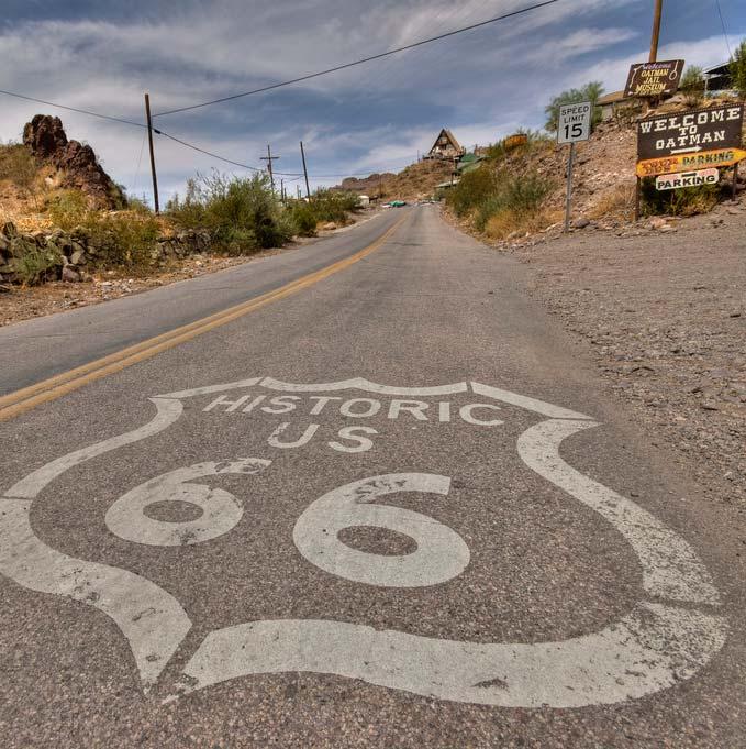 Route 66 in Oatman. P