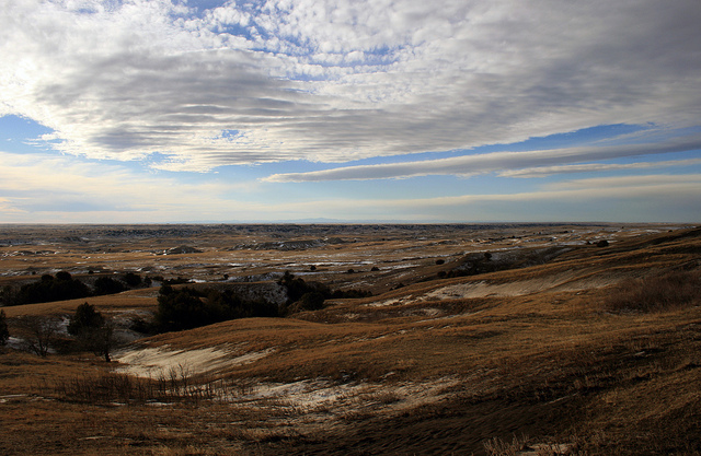 View from the Sage Creek Basin Overlook in Badlands National Park.