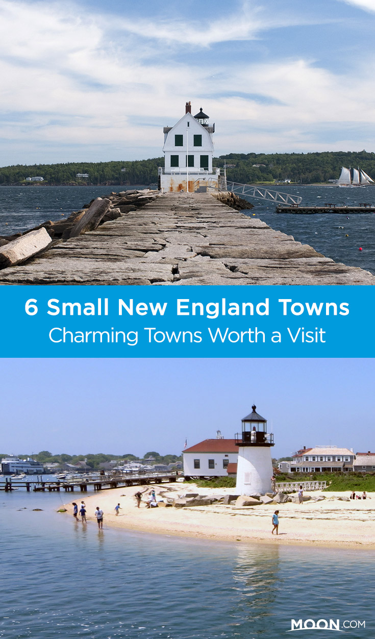 Charming New England towns pinterest graphic