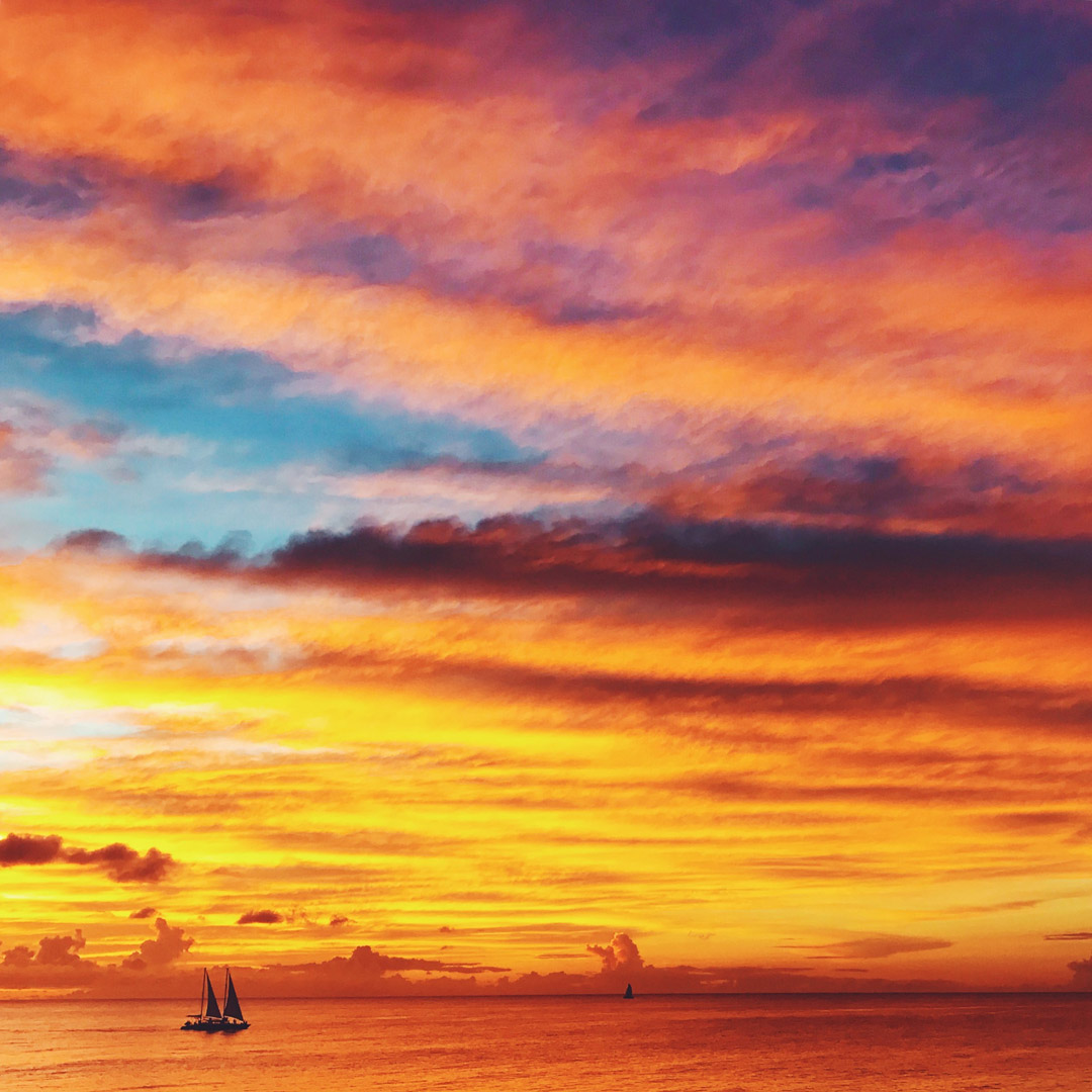 photography of the brilliant colors of sunset captured on a mobile phone