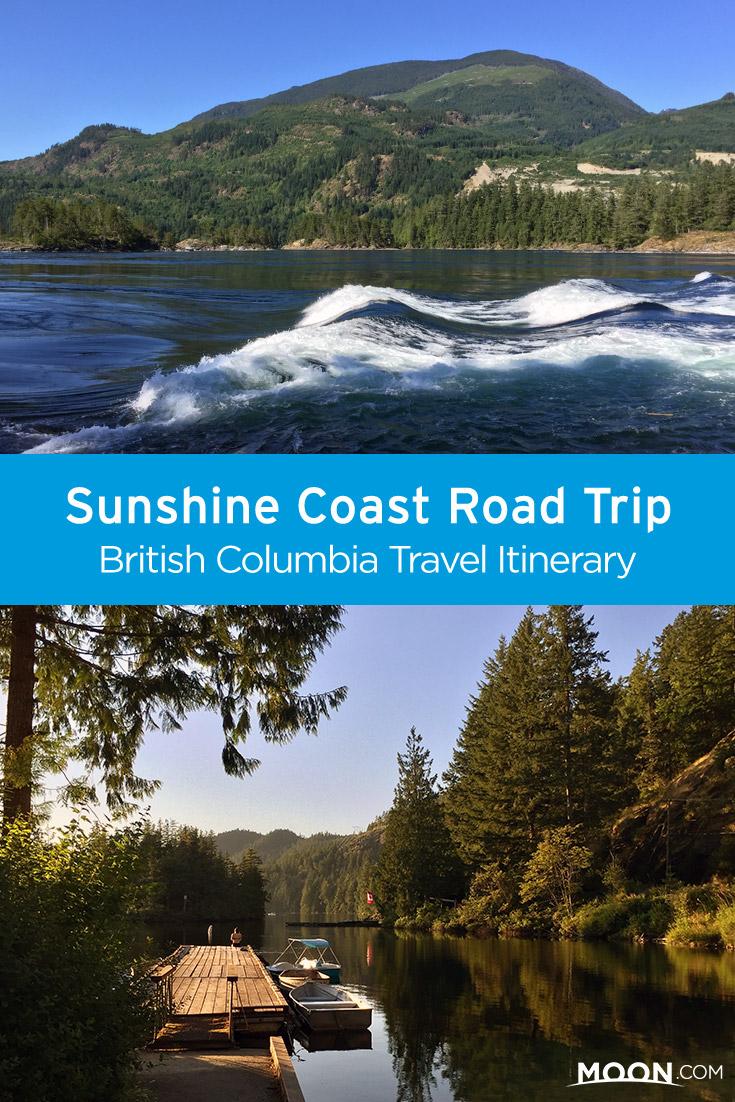 sunshine coast road trip pinterest graphic