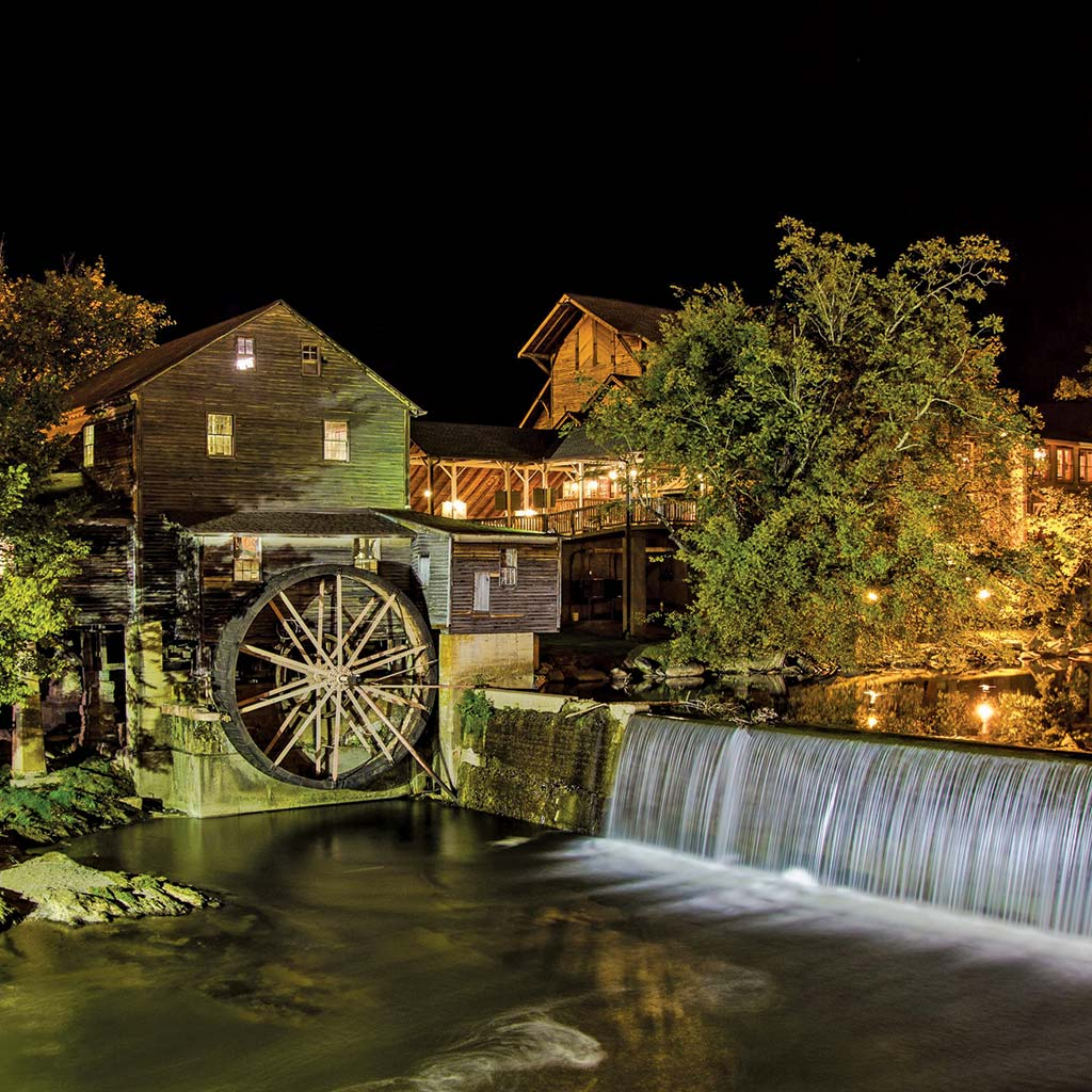 The Old Mill restaurant and tourist destination in Pigeon Forge, TN.