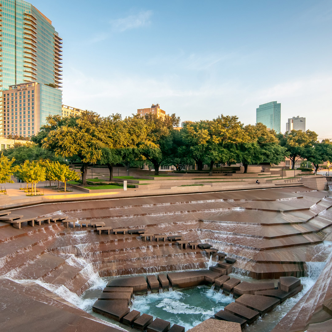 city fountain in Fort Worth Texas