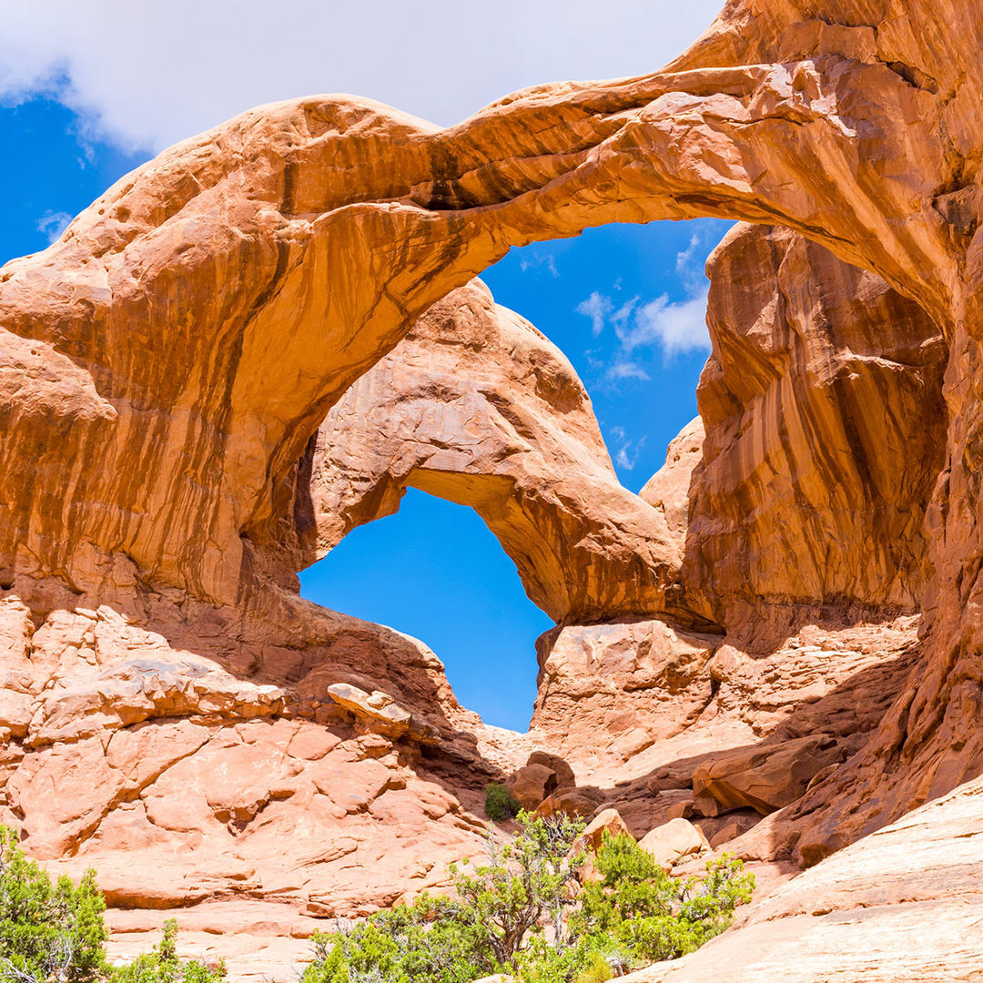 Double Arch at Arches National Park.