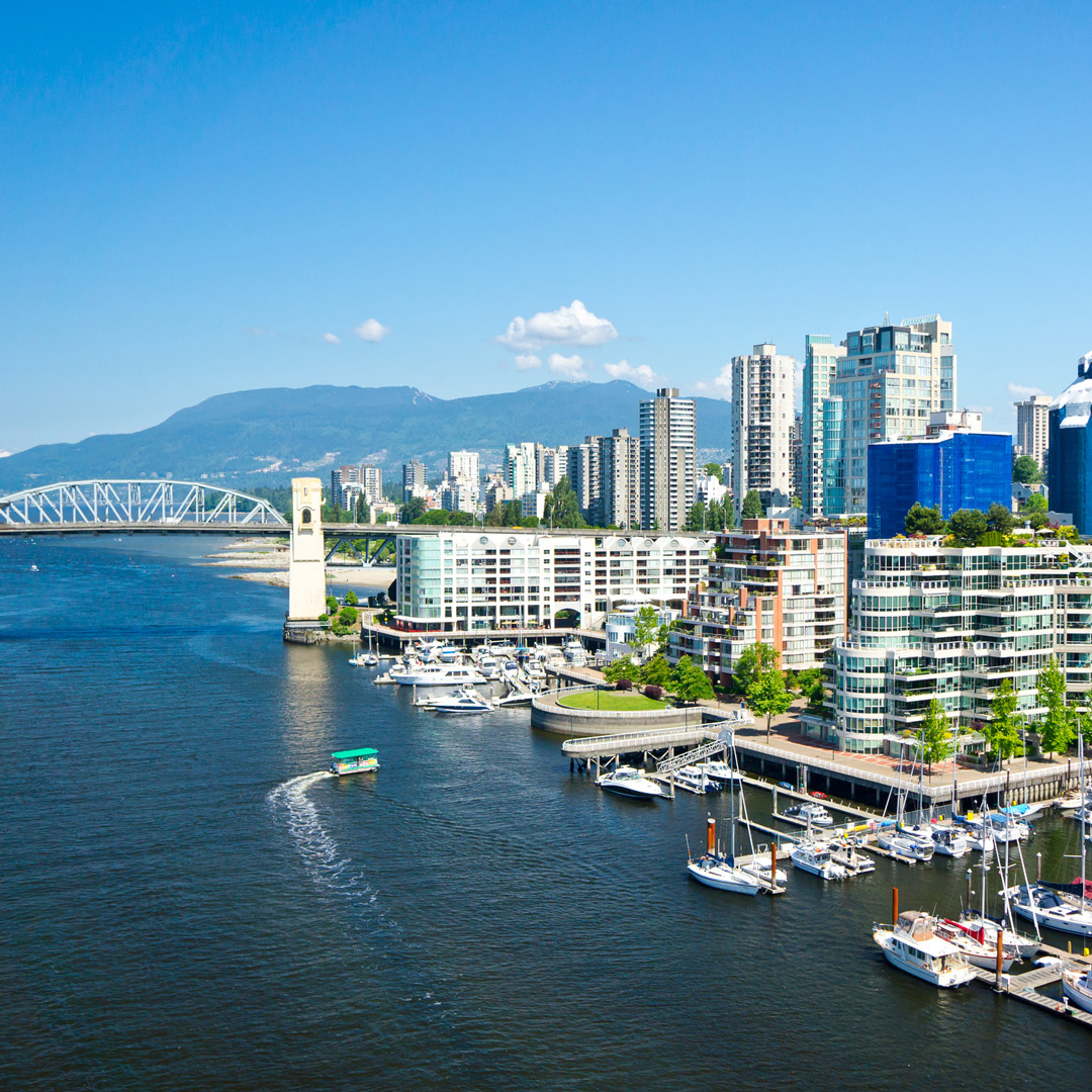 the harbor near downtown Vancouver