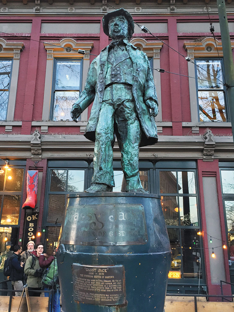 statue of gassy jack in gastown vancouver