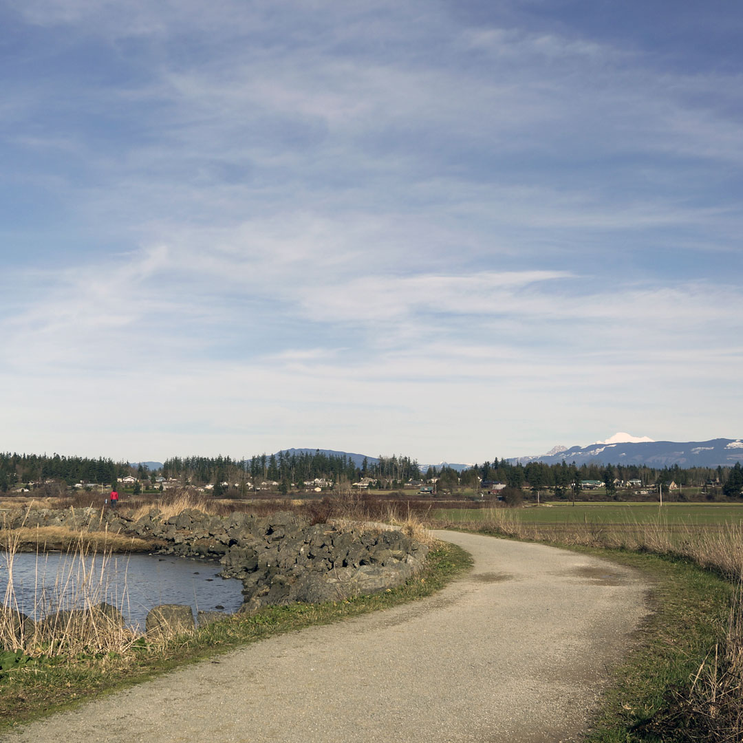 Hiking trail at Padilla Bay