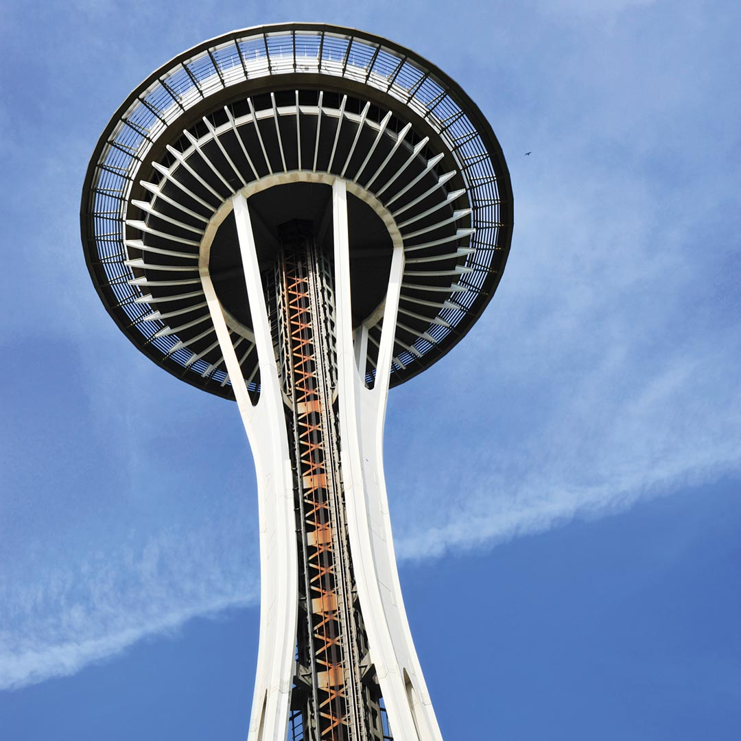 view from underneath the space needle