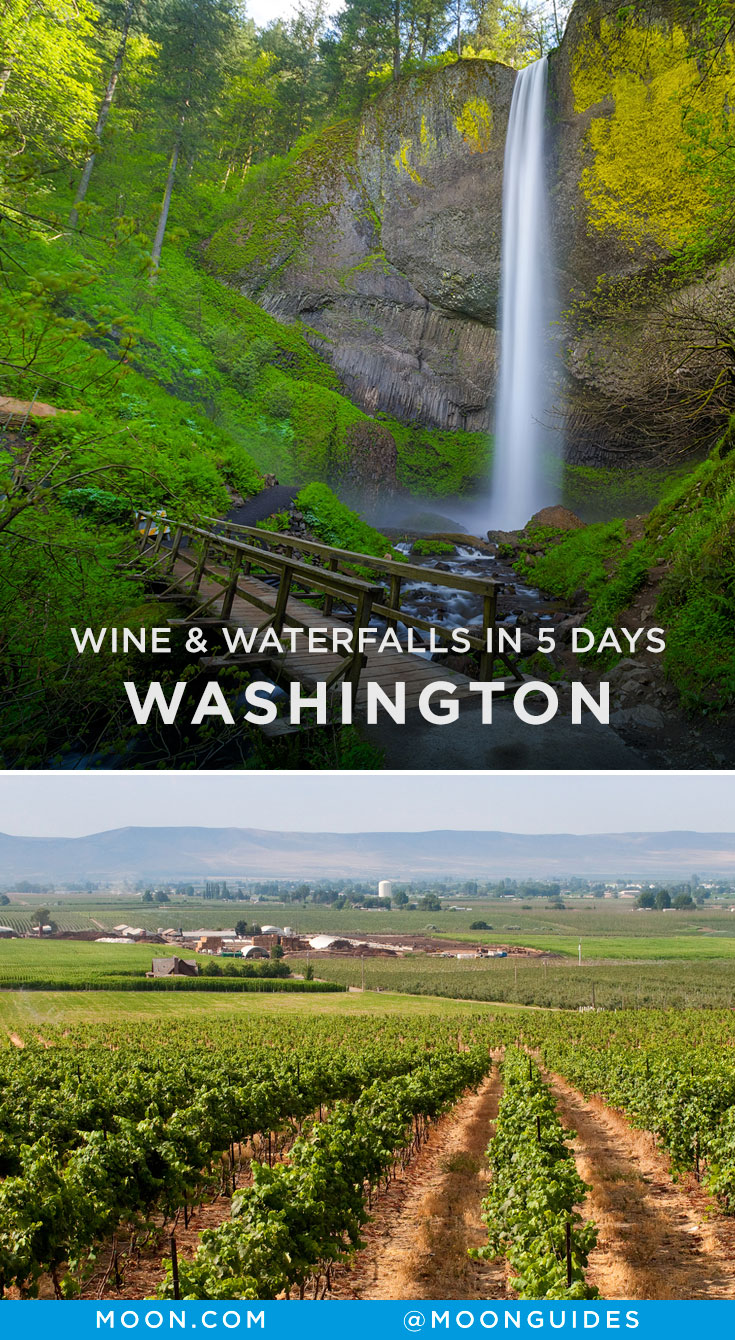Washington Wine Country itinerary Pinterest graphic