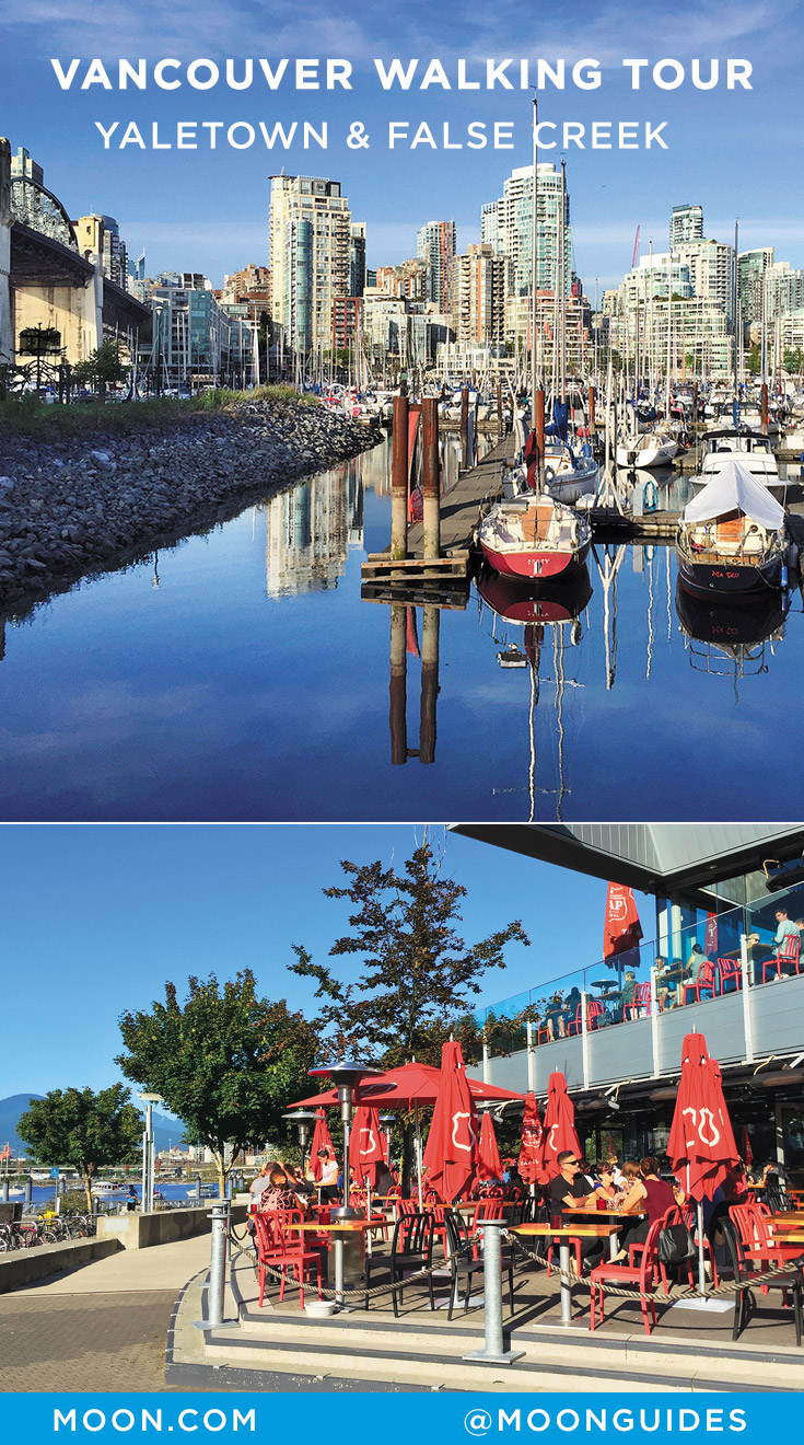 Vancouver Yaletown and False Creek walk Pinterest graphic