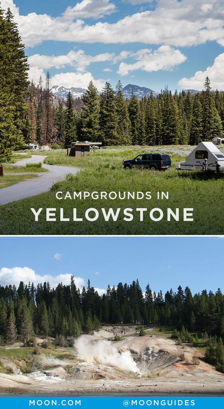 Yellowstone Camping Pinterest Graphic