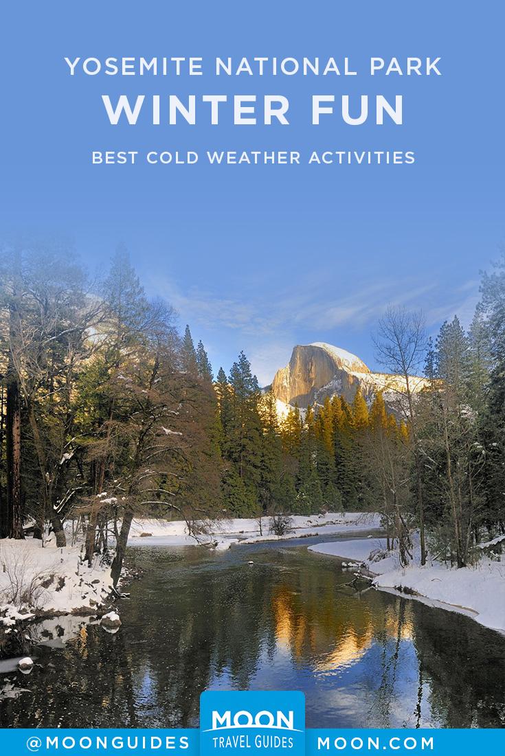 Yosemite in Winter Pinterest Graphic