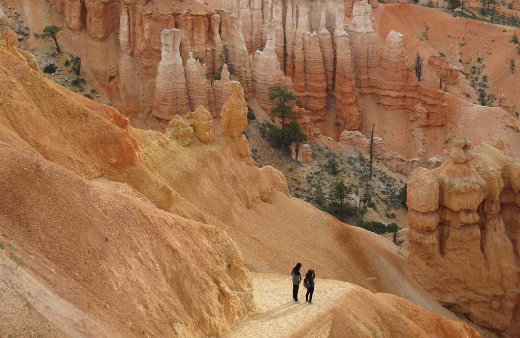 Hiking the Navajo Trail Loop in Bryce Canyon. Photo © Judy Jewell.
