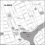 Map of La Boca, Argentina