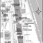 Map of Puerto Madero, Argentina