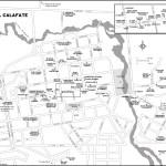 Map of El Calafate, Argentina