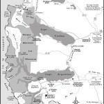 Map of Parque Nacional Los Glaciares, Argentina