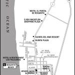 Map of Rosarito, Mexico
