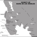 Map of the Vicinity of Bahia de los Angeles in Mexico