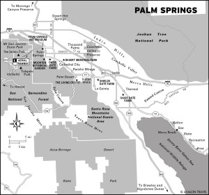 Travel Map of Palm Springs, California