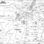 Map of Gran Santiago, Chile