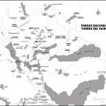 Map of Parque Nacional Torres del Paine, Chile
