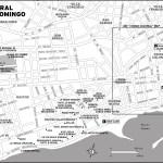 Map of Central Santo Domingo, Dominican Republic