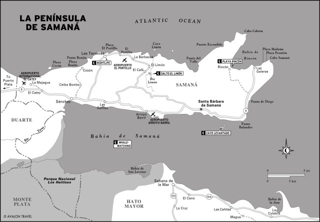 Map of La Península de Samaná, Dominican Republic