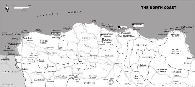 Map of The North Coast, Dominican Republic