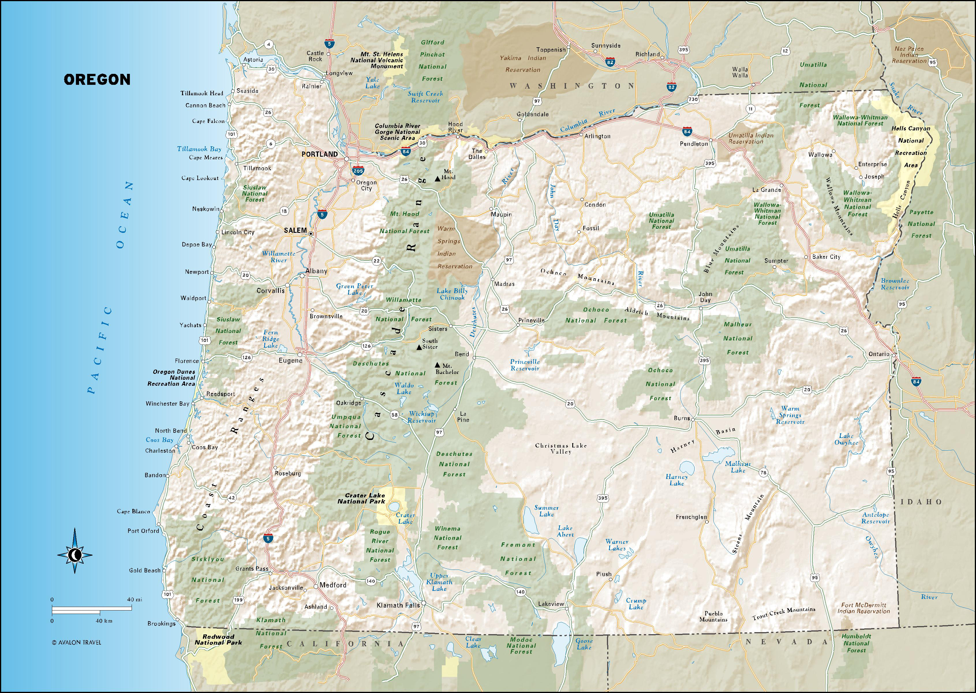 spirit river oregon map Oregon Moon Travel Guides spirit river oregon map