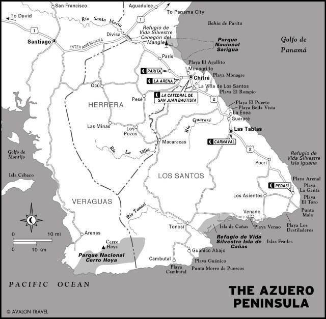 Map of the Azuero Peninsula