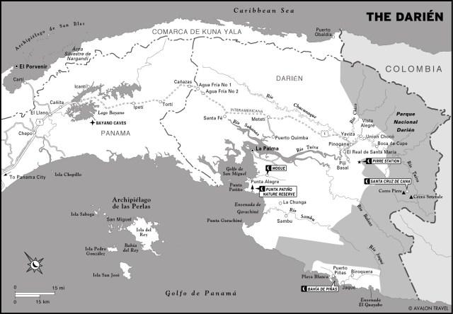 Map of the Darién, Panama