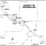 Map of the vicinity of Drumheller