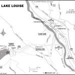 Map of Lake Louise, AB