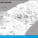 Map of Downtown Madison, Wisconsin