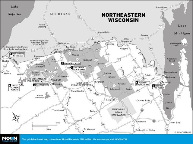 Map of Northeastern Wisconsin