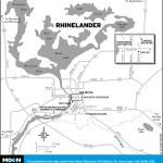 Map of Rhinelander, Wisconsin