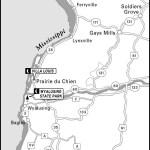 Map of South of La Crosse, Wisconsin