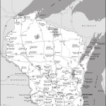 Map of Badger State Parks and Forests, Wisconsin