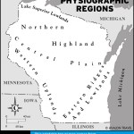 Map of Physiographics Regions, Wisconsin