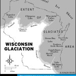 Map of Wisconsin Glaciation
