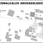 Map of Comcalcalco Archaeological Zone in Mexico