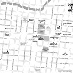 Map of downtown Tuxtla Gutiérrez Mexico