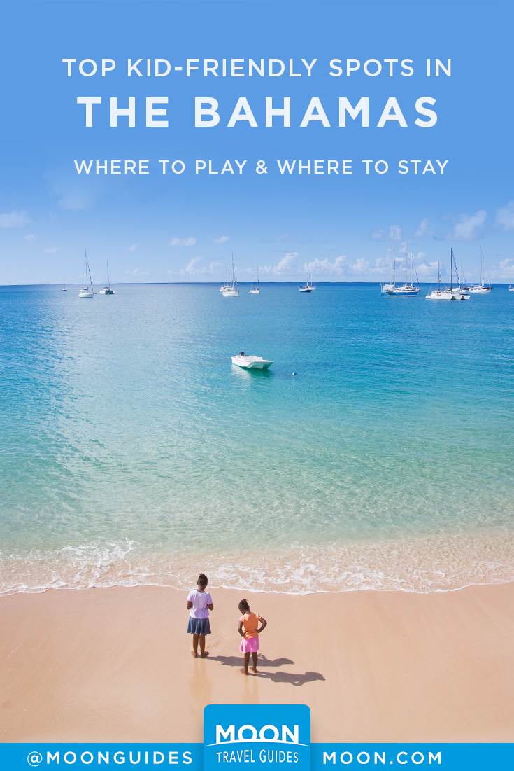 Bahamas with Kids Pinterest graphic