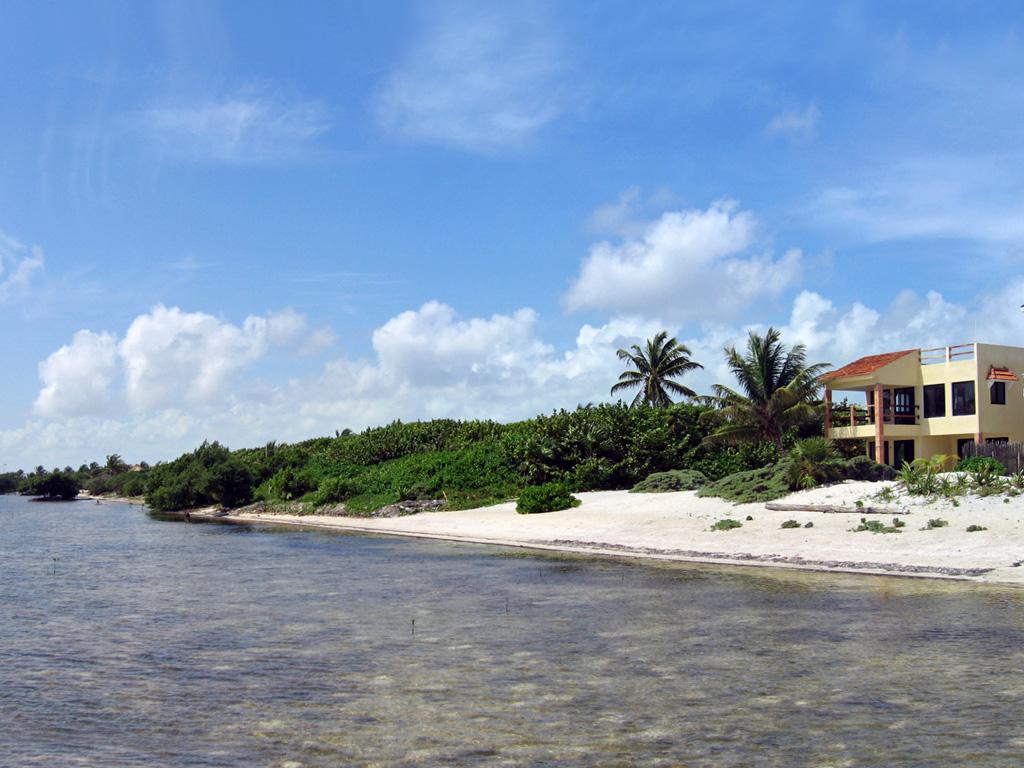 shoreline of xcalak mexico