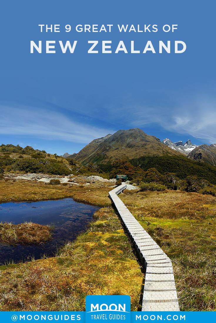 New Zealand Great Walks pinterest graphic