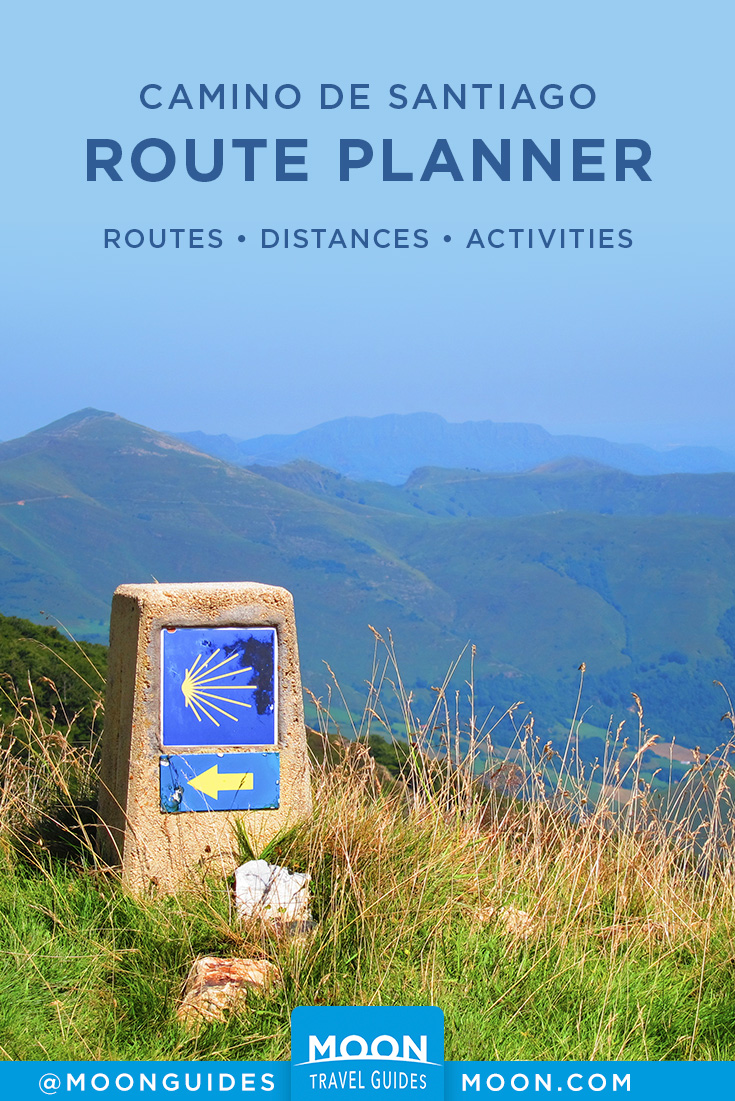 Camino de Santiago routes pinterest graphic